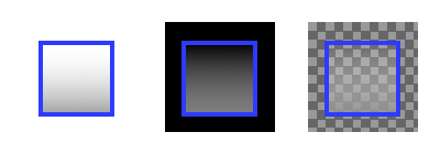 Semi-transparent rectangle with different backdrops